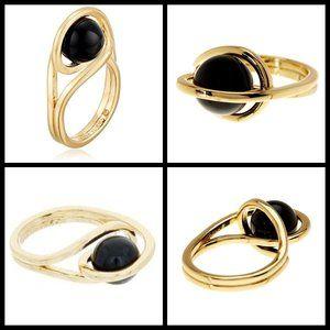 Trina Turk Jewelry - TRINA TURK Caged Ball Ring - Black